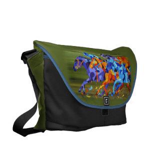 La bolsa de mensajero de la carrera de caballos bolsa messenger