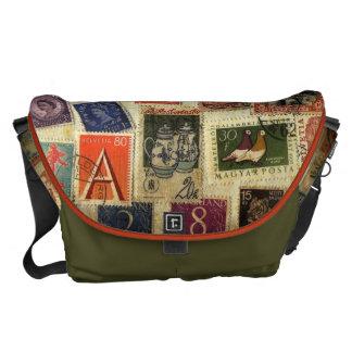 La bolsa de mensajero de la colección de sello bolsas de mensajería