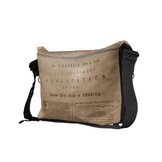 La bolsa de mensajero de la Declaración de Indepen Bolsas De Mensajería