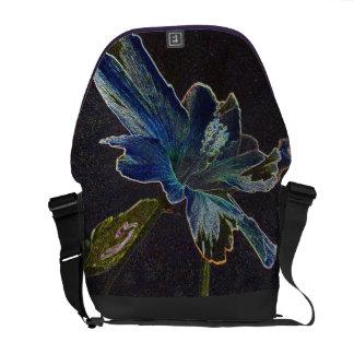 La bolsa de mensajero de la flor bolsa de mensajería