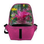 La bolsa de mensajero de la flor de Beebalm Bolsas De Mensajeria