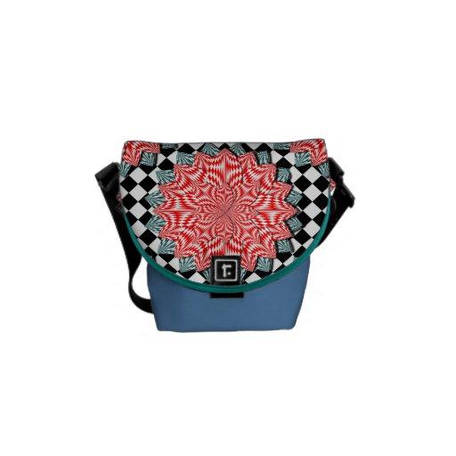 La bolsa de mensajero de la flor de Digitaces Bolsas De Mensajeria