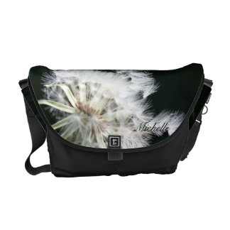 La bolsa de mensajero de la flor del diente de leó bolsa de mensajería