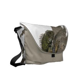 La bolsa de mensajero de la imagen de la iguana bolsas messenger