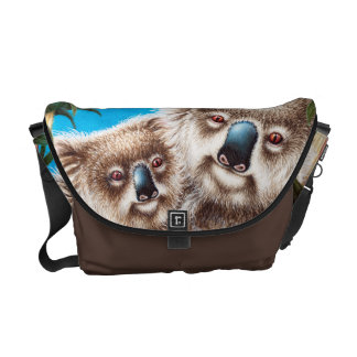 La bolsa de mensajero de la koala y del carrito de bolsas messenger