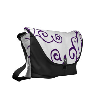 La bolsa de mensajero de la marfil del cirro (añil bolsas de mensajería