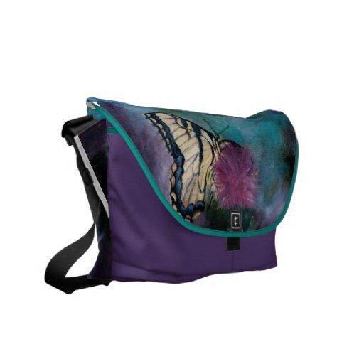 La bolsa de mensajero de la mariposa de la belleza bolsas de mensajería
