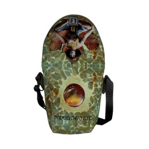 La bolsa de mensajero de la meditación de la hoja bolsa de mensajería