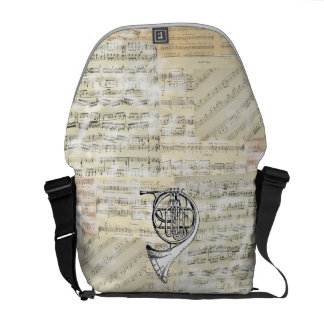 La bolsa de mensajero de la música de la trompa de bolsas de mensajeria