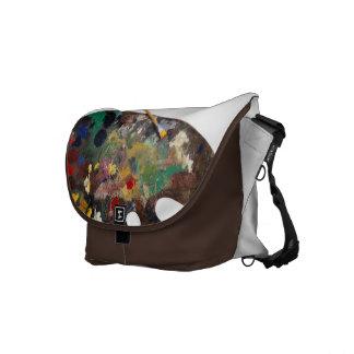 La bolsa de mensajero de la paleta del artista bolsas messenger