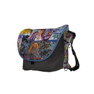 La bolsa de mensajero de la pintada de la calle bolsa de mensajeria