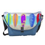 La bolsa de mensajero de la playa de las tablas ha bolsas messenger