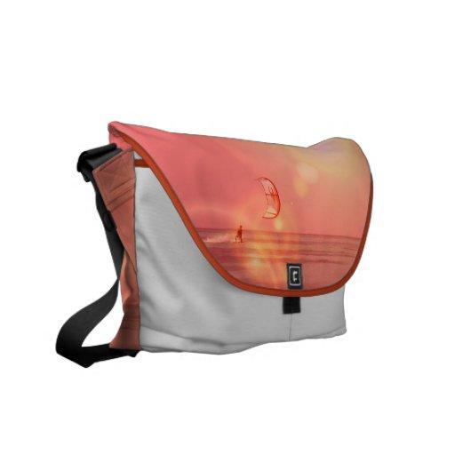 La bolsa de mensajero de la puesta del sol de Kite Bolsa De Mensajeria