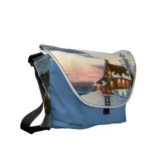 La bolsa de mensajero de la puesta del sol de la e bolsas de mensajeria