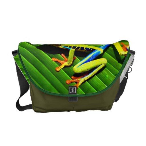 La bolsa de mensajero de la rana arbórea bolsa messenger