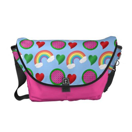 La bolsa de mensajero de la sandía bolsas de mensajeria