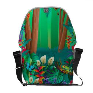la bolsa de mensajero de la selva tropical bolsas messenger