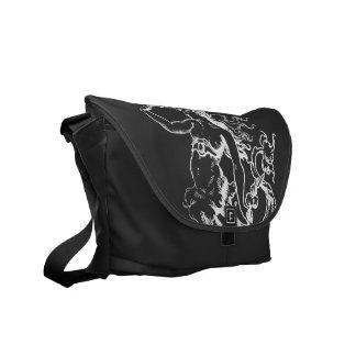La bolsa de mensajero de la sirena del vintage bolsa de mensajeria