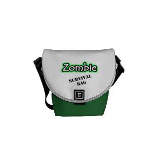 La bolsa de mensajero de la supervivencia del zomb bolsa de mensajería