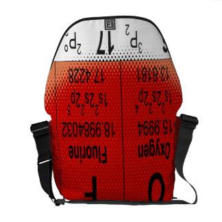 La bolsa de mensajero de la tabla periódica de Oxy Bolsa De Mensajería