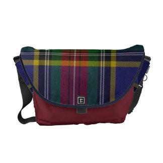 La bolsa de mensajero de la tela escocesa de tartá bolsa de mensajeria