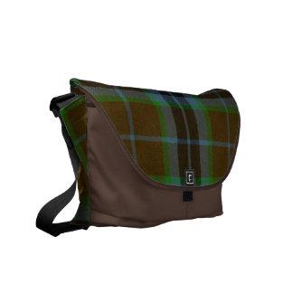 La bolsa de mensajero de la tela escocesa de tartá bolsa de mensajería