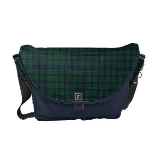La bolsa de mensajero de la tela escocesa de tartá bolsas de mensajería