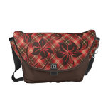 La bolsa de mensajero de la tela escocesa del hibi bolsas messenger