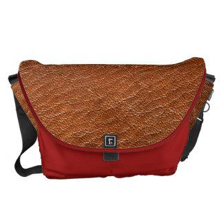 La bolsa de mensajero de la textura del cuero de bolsa de mensajeria