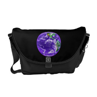La bolsa de mensajero de la tierra del planeta bolsa de mensajería