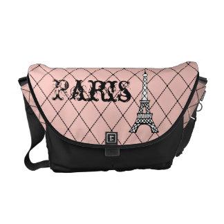 La bolsa de mensajero de la torre Eiffel de París Bolsas Messenger