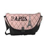 La bolsa de mensajero de la torre Eiffel de París Bolsas De Mensajería