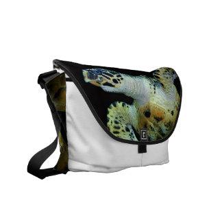 La bolsa de mensajero de la tortuga de mar del Lea Bolsas De Mensajeria