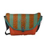 La bolsa de mensajero de la turquesa y del carrito bolsas messenger