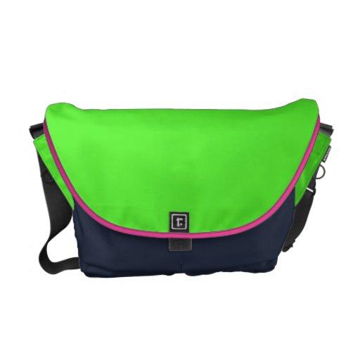 La bolsa de mensajero de la verde lima bolsas de mensajería