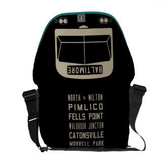 La bolsa de mensajero de la voluta del autobús de  bolsas de mensajeria