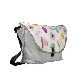 La bolsa de mensajero de las anémonas y de las taz bolsa de mensajería