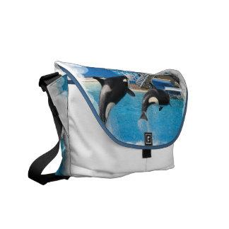 La bolsa de mensajero de las ballenas de la orca bolsas messenger