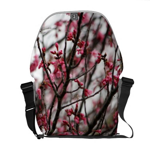 La bolsa de mensajero de las flores de cerezo bolsas de mensajeria