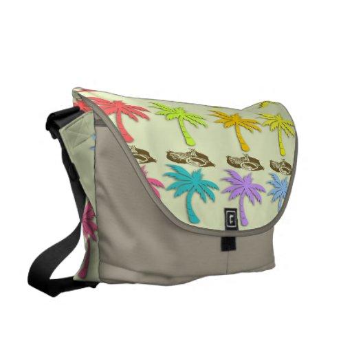 La bolsa de mensajero de las palmeras del verano bolsas de mensajería