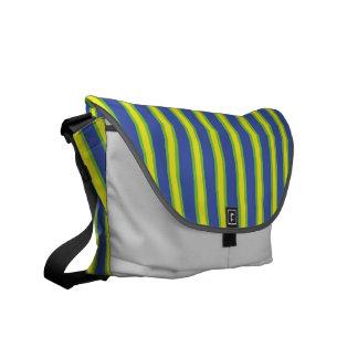 La bolsa de mensajero de las rayas azules bolsas de mensajeria