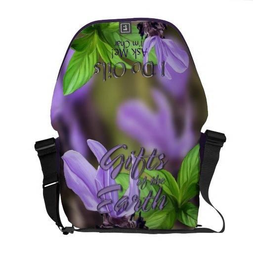 La bolsa de mensajero de los aceites de la lavanda bolsa de mensajeria
