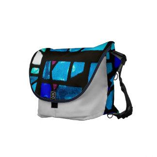 La bolsa de mensajero de los azules del vitral bolsa de mensajería