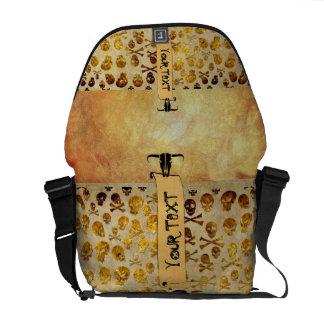 La bolsa de mensajero de los cráneos del pirata bolsas de mensajeria