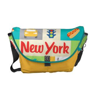 la bolsa de mensajero de los iconos de New York Bolsa De Mensajeria