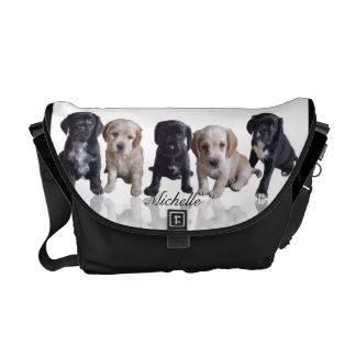 La bolsa de mensajero de los perritos de cocker sp bolsas de mensajeria