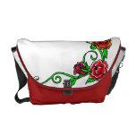 la bolsa de mensajero de los rosas de la escuela v bolsas de mensajeria