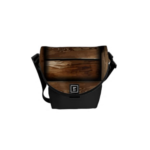 La bolsa de mensajero de madera de la vieja ruina  bolsas de mensajería
