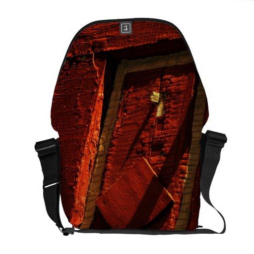 La bolsa de mensajero de madera del carrito de la  bolsa messenger