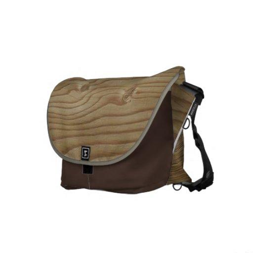 La bolsa de mensajero de madera del grano bolsa messenger
